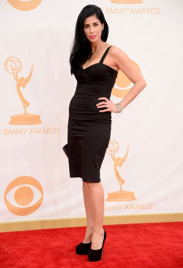 Actress Sarah Silverman arrives at the 65th Annual Primetime Emmy Awards held at Nokia Theatre L.A. Live on September 22, 2013 in Los Angeles, California.  (Photo by Frazer Harrison/Getty Images) Photo: Getty Images