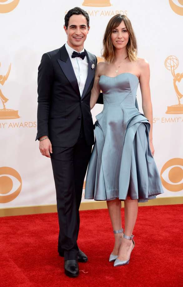 Designer Zac Posen (L) and director Gia Coppola arrive at the 65th Annual Primetime Emmy Awards held at Nokia Theatre L.A. Live on September 22, 2013 in Los Angeles, California.  (Photo by Frazer Harrison/Getty Images) Photo: Getty Images