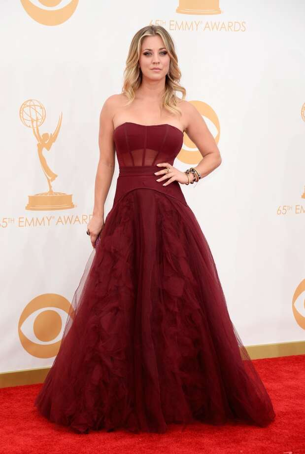 Actress  Kaley Cuoco arrives at the 65th Annual Primetime Emmy Awards held at Nokia Theatre L.A. Live on September 22, 2013 in Los Angeles, California.  (Photo by Frazer Harrison/Getty Images) Photo: Getty Images