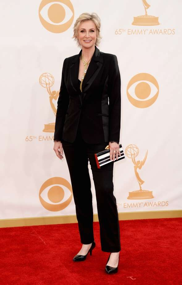 Actress Jane Lynch arrives at the 65th Annual Primetime Emmy Awards held at Nokia Theatre L.A. Live on September 22, 2013 in Los Angeles, California.  (Photo by Frazer Harrison/Getty Images) Photo: Getty Images