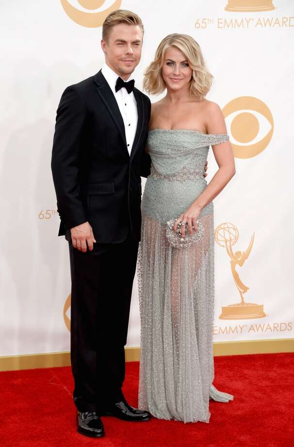 TV personality Derek Hough and actress Julianne Hough arrive at the 65th Annual Primetime Emmy Awards held at Nokia Theatre L.A. Live on September 22, 2013 in Los Angeles, California.  (Photo by Frazer Harrison/Getty Images) Photo: Getty Images
