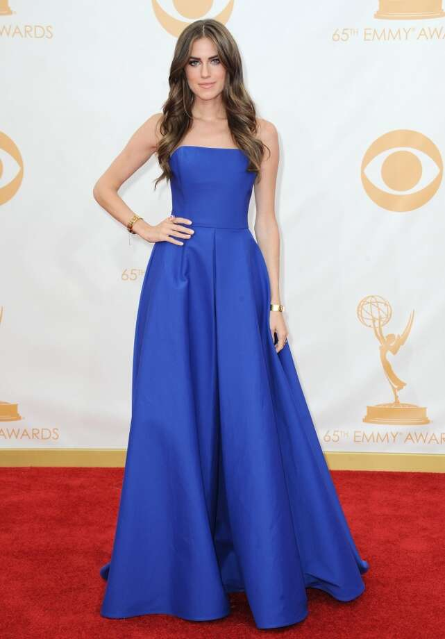 Allison Williams, wearing Ralph Lauren, arrives at the 65th Primetime Emmy Awards at Nokia Theatre on Sunday Sept. 22, 2013, in Los Angeles.  (Photo by Jordan Strauss/Invision/AP) Photo: Associated Press