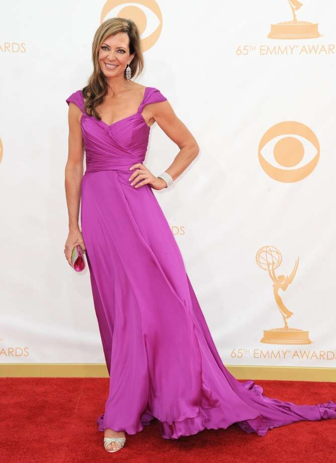 Allison Janney arrives at the 65th Primetime Emmy Awards at Nokia Theatre on Sunday Sept. 22, 2013, in Los Angeles.  (Photo by Jordan Strauss/Invision/AP) Photo: Associated Press