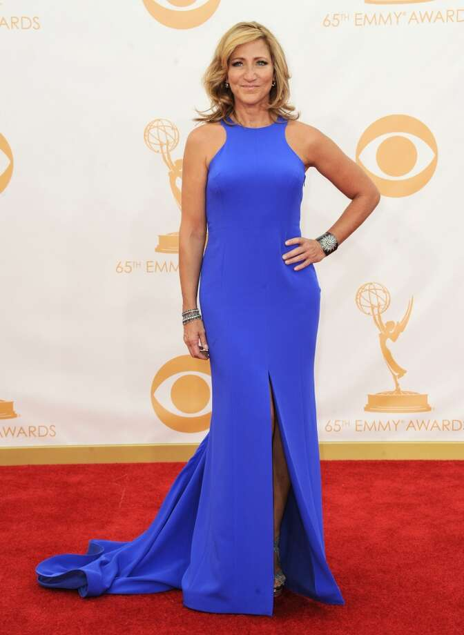 Edie Falco arrives at the 65th Primetime Emmy Awards at Nokia Theatre on Sunday Sept. 22, 2013, in Los Angeles.  (Photo by Jordan Strauss/Invision/AP) Photo: Associated Press