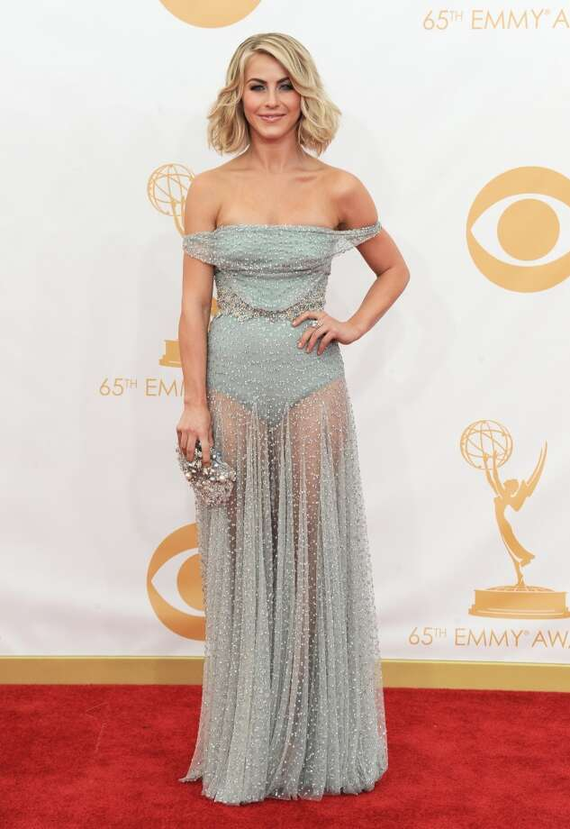 Julianne Hough arrives at the 65th Primetime Emmy Awards at Nokia Theatre on Sunday Sept. 22, 2013, in Los Angeles.  (Photo by Jordan Strauss/Invision/AP) Photo: Associated Press