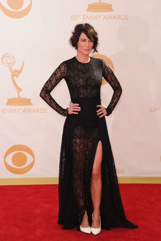 Actress Lena Headey arrives on the red carpet for the 65th Emmy Awards in Los Angeles, California, on September 22, 2013. Photo: AFP/Getty Images