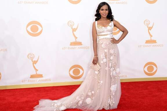 Actress Kerry Washington arrives at the 65th Annual Primetime Emmy Awards held at Nokia Theatre L.A. Live on September 22, 2013 in Los Angeles, California.  (Photo by Jason Merritt/Getty Images)