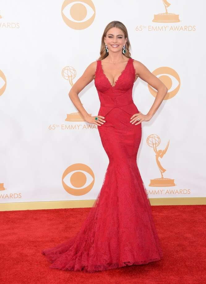 Actress Sofia Vergara arrives at the 65th Annual Primetime Emmy Awards held at Nokia Theatre L.A. Live on September 22, 2013 in Los Angeles, California.  (Photo by Jason Merritt/Getty Images) Photo: Jason Merritt, Getty Images