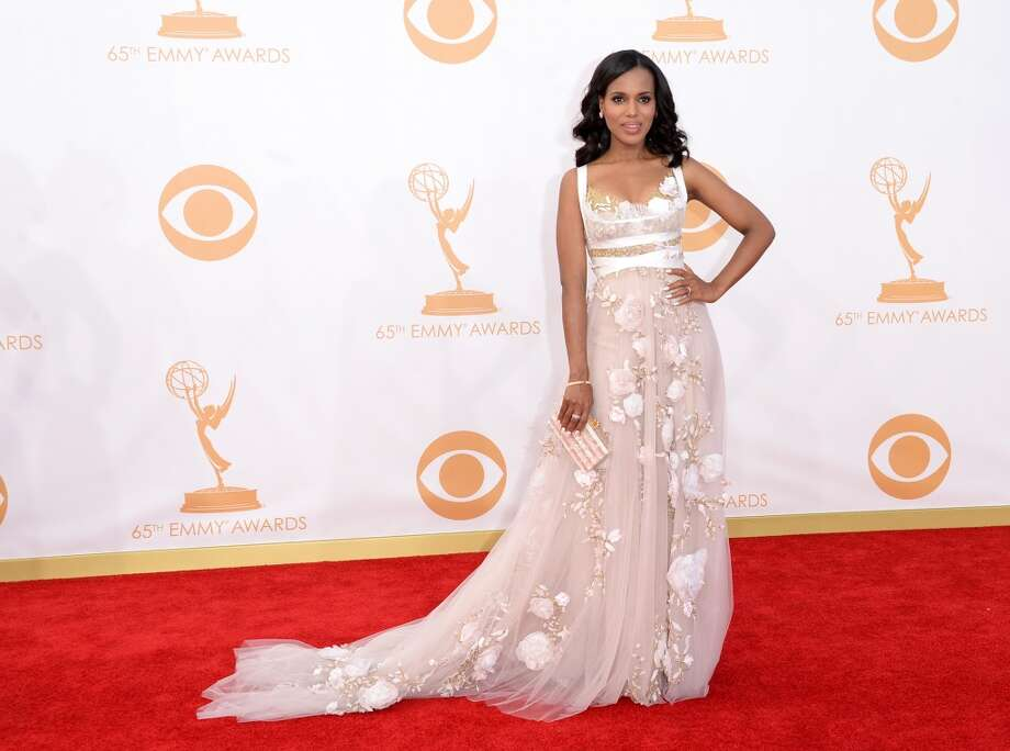 Actress Kerry Washington arrives at the 65th Annual Primetime Emmy Awards held at Nokia Theatre L.A. Live on September 22, 2013 in Los Angeles, California.  (Photo by Jason Merritt/Getty Images) Photo: Jason Merritt, Getty Images