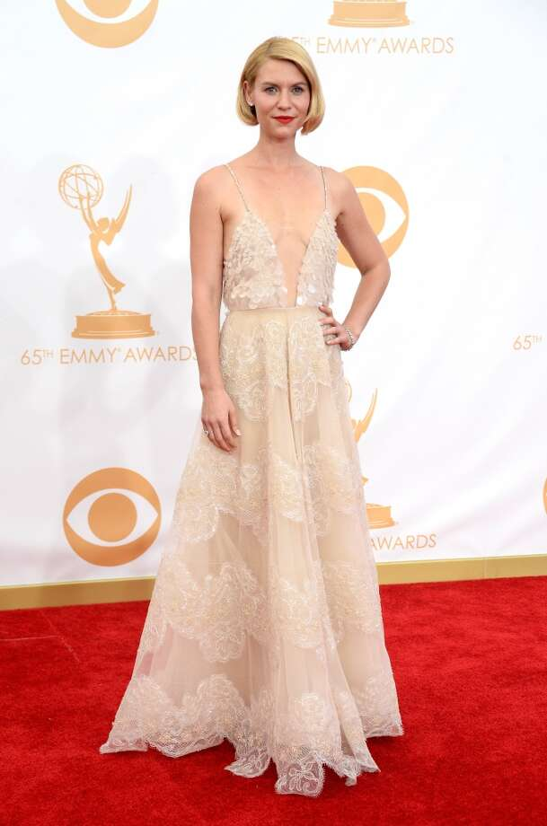 Actress Claire Danes arrives at the 65th Annual Primetime Emmy Awards held at Nokia Theatre L.A. Live on September 22, 2013 in Los Angeles, California.  (Photo by Frazer Harrison/Getty Images) Photo: Frazer Harrison, Getty Images