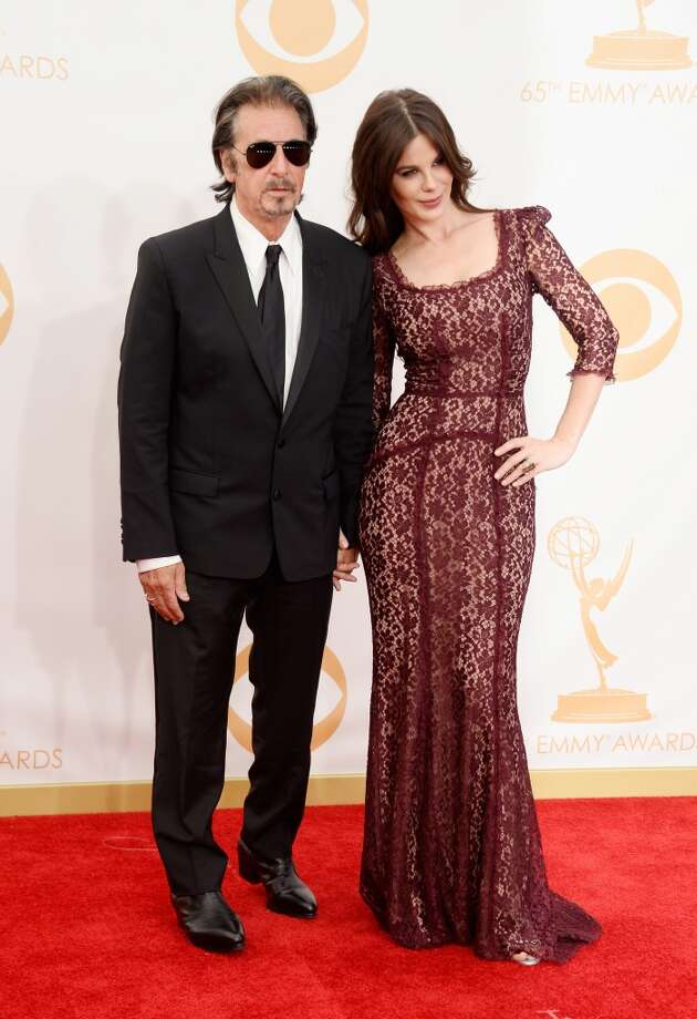 Actor Al Pacino (L) and Lucila Sola arrive at the 65th Annual Primetime Emmy Awards Lucila Solaheld at Nokia Theatre L.A. Live on September 22, 2013 in Los Angeles, California.  (Photo by Frazer Harrison/Getty Images) Photo: Frazer Harrison, Getty Images