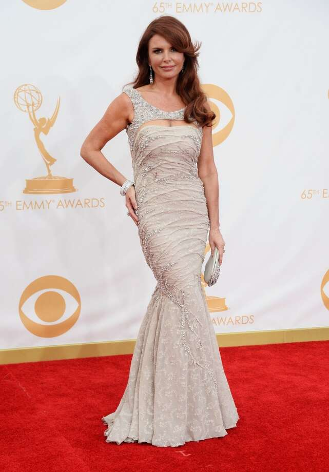 Actress Roma Downey arrives at the 65th Annual Primetime Emmy Awards held at Nokia Theatre L.A. Live on September 22, 2013 in Los Angeles, California.  (Photo by Frazer Harrison/Getty Images) Photo: Frazer Harrison, Getty Images