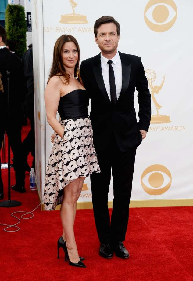 Director/producer/actor Jason Bateman (R) and wife Amanda Anka arrive at the 65th Annual Primetime Emmy Awards held at Nokia Theatre L.A. Live on September 22, 2013 in Los Angeles, California.  (Photo by Frazer Harrison/Getty Images) Photo: Frazer Harrison, Getty Images