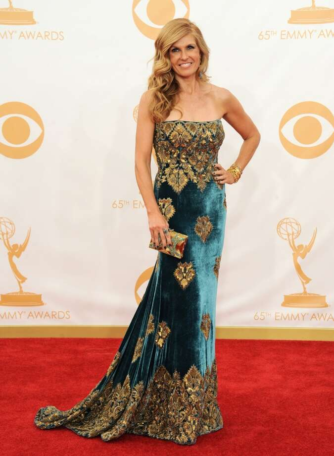 Connie Britton arrives at the 65th Primetime Emmy Awards at Nokia Theatre on Sunday Sept. 22, 2013, in Los Angeles.  (Photo by Jordan Strauss/Invision/AP) Photo: Jordan Strauss, Associated Press