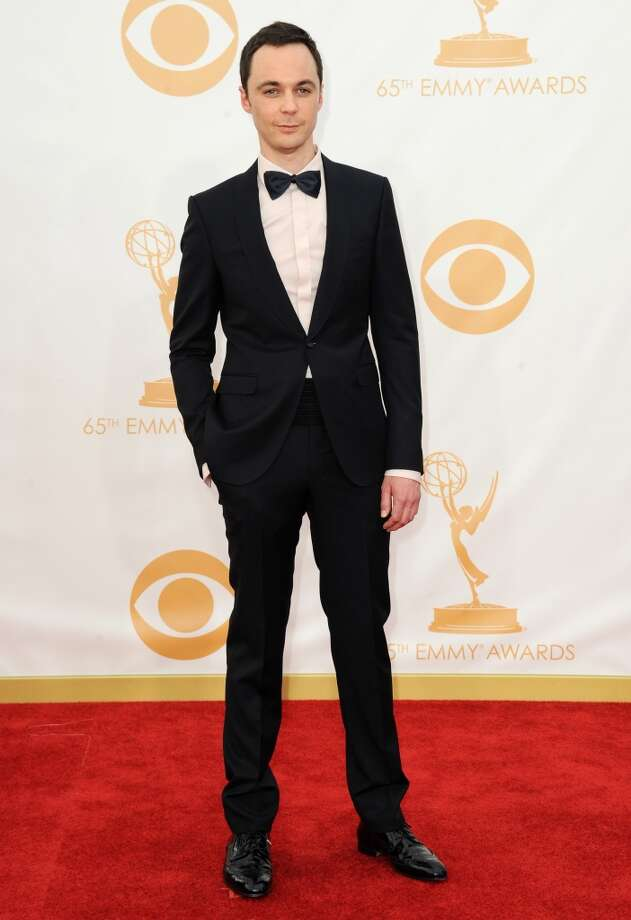 Jim Parsons arrives at the 65th Primetime Emmy Awards at Nokia Theatre on Sunday Sept. 22, 2013, in Los Angeles.  (Photo by Jordan Strauss/Invision/AP) Photo: Jordan Strauss, Associated Press