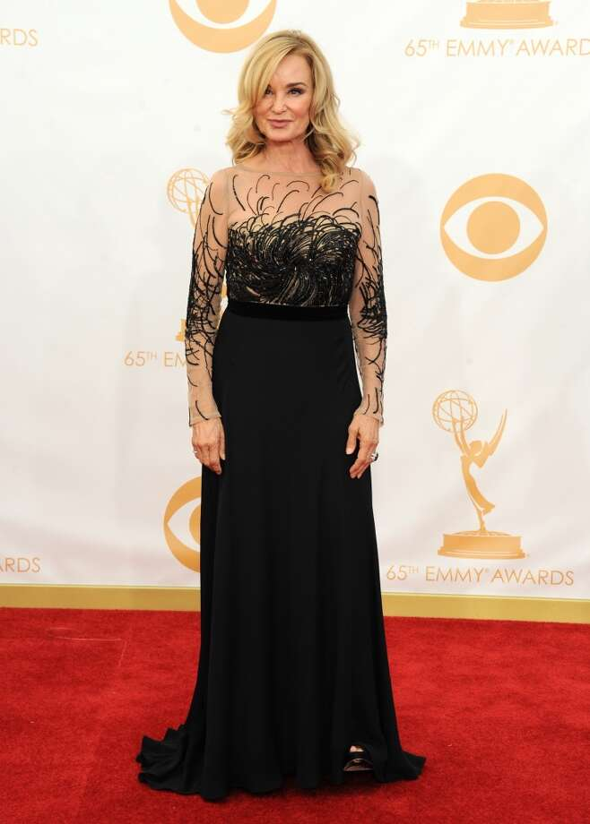 Jessica Lange arrives at the 65th Primetime Emmy Awards at Nokia Theatre on Sunday Sept. 22, 2013, in Los Angeles.  (Photo by Jordan Strauss/Invision/AP) Photo: Jordan Strauss, Associated Press