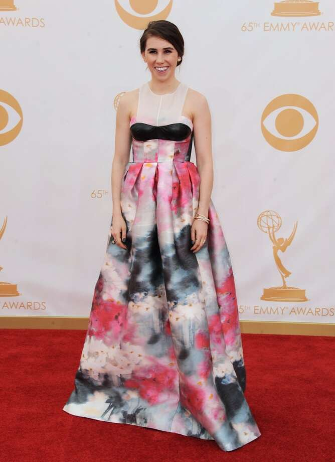 Zosia Mamet arrives at the 65th Primetime Emmy Awards at Nokia Theatre on Sunday, Sept. 22, 2013, in Los Angeles.  (Photo by Jordan Strauss/Invision/AP) Photo: Jordan Strauss, Associated Press
