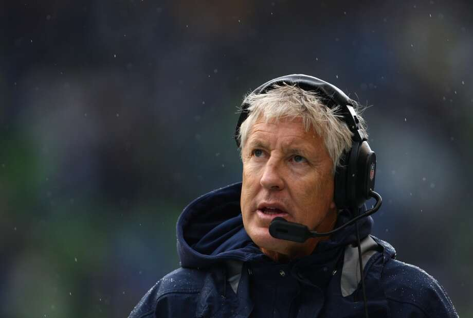 Seattle Seahawks coach Pete Carroll watches the action fro the sidelines against the Jacksonville Jaguars on Sunday, Sept. 22, 2013 at CenturyLink Field in Seattle. Photo: SEATTLEPI.COM