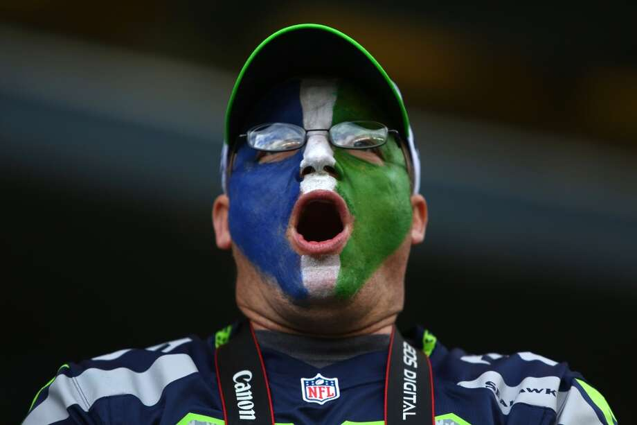 A Seattle Seahawks fan makes noise during play against the Jacksonville Jaguars on Sunday, Sept. 22, 2013 at CenturyLink Field in Seattle. Photo: SEATTLEPI.COM