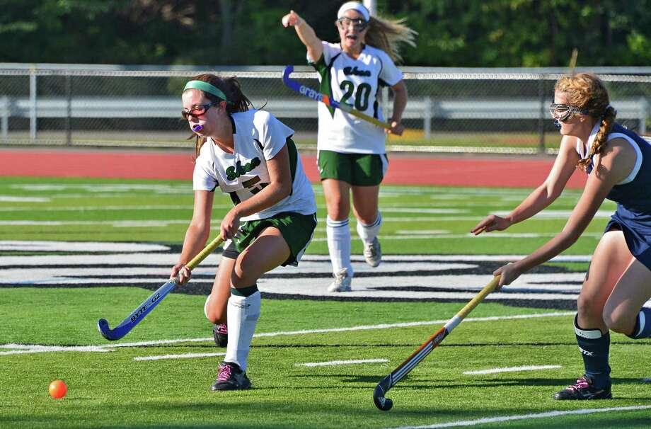 Shenendehowa's #5 Anna Branch launches the ball downfield during their game against Saratoga High at Shenendehowa Friday Sept. 20, 2013, in Clifton park, NY.     (John Carl D'Annibale / Times Union) Photo: John Carl D'Annibale / 00023934A
