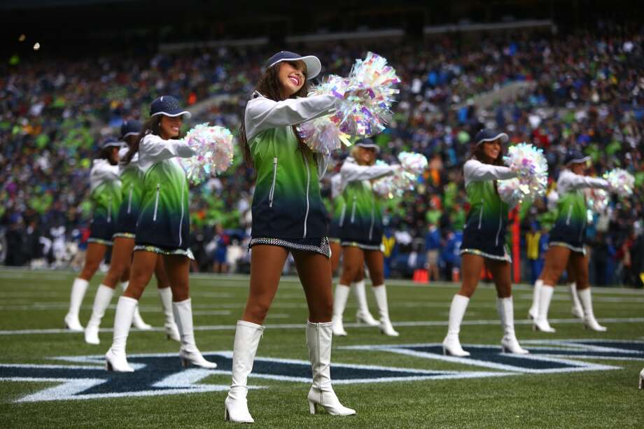 Seattle Seahawks cheerleaders perform during a game against the Jacksonville Jaguars on Sunday, Sept. 22, 2013 at CenturyLink Field in Seattle. Photo: SEATTLEPI.COM