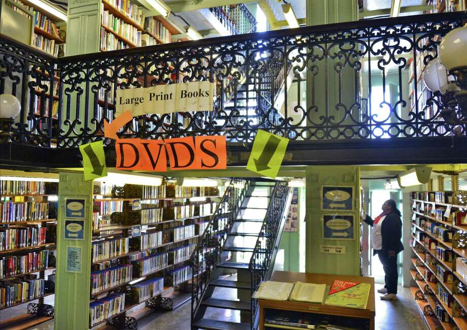 Some of the four floors of stacks at the Troy Public LIbrary on Second St. Wednesday Sept. 18, 2013, in Troy, NY.  (John Carl D'Annibale / Times Union) Photo: John Carl D'Annibale / 00023908A