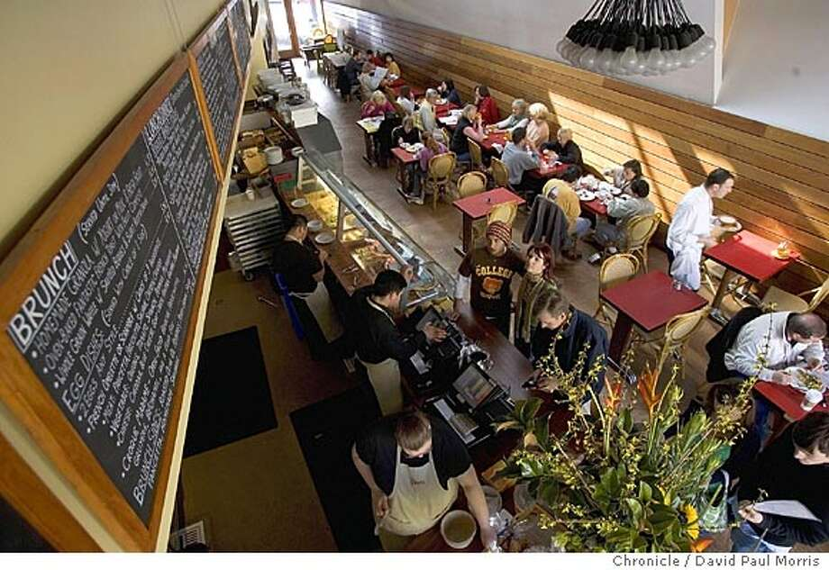 "Rigolo Cafe:This country French cafe touts itself as ""the most child-friendly restaurant in S.F.,"" and it's certainly welcoming with a play area where little hands can keep busy with toys, crayons, and a chalkboard. KIDS' MENU: From pesto penne pasta to all-natural mini burgers served on an organic bun with lettuce and tomato. ADULT MENU: Favorite French specialties include onion soup and roasted chicken. INFO: Laurel Village, 3465 California St., (415) 876-7777, rigolocafe.com. Photo: David Paul Morris, The Chronicle"