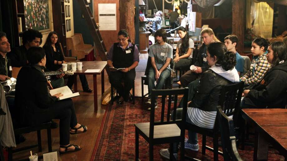 You know at least one person who's been published by McSweeney's or volunteers at 826 Valencia. (Shown: singer Natalie Merchant conducts a workshop at 826 Valencia in 2010). Photo: Lance Iversen, The Chronicle