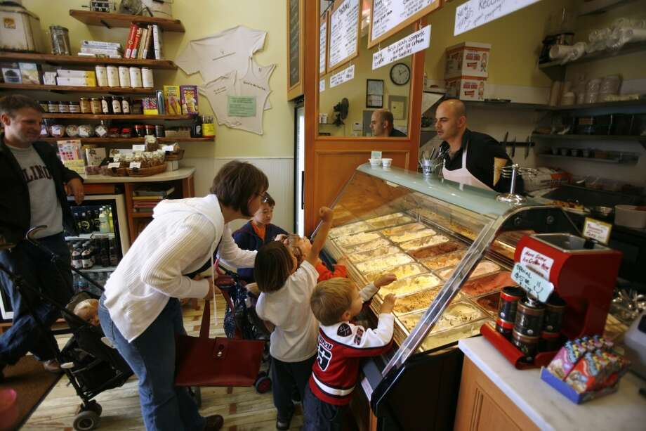 You don't mind waiting in line for 45 minutes to get a scoop of ice cream. Photo: Craig Lee, San Francisco Chronicle