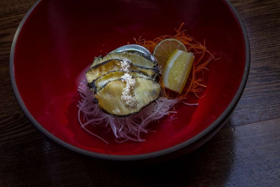 Kuro Awabi Sashimi at Akiko's in San Francisco. Photo: John Storey, Special To The Chronicle