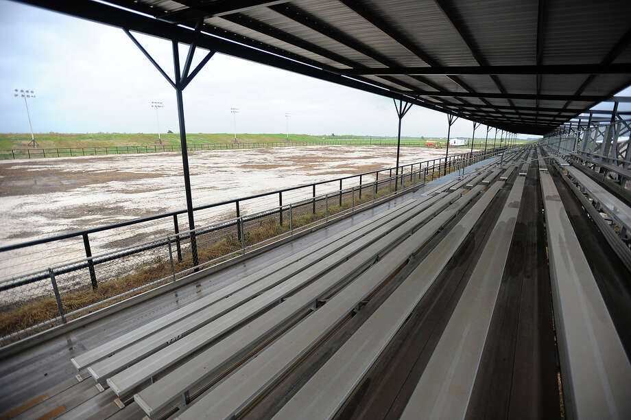 With seating for 3,000, Nutty Jerry's Arena is hoped to be open to events sometime in October. The venue is slated to provide rodeos, monster trucks and concerts.  Photo taken September 19, 2013 Guiseppe Barranco/The Enterprise Photo: Guiseppe Barranco, STAFF PHOTOGRAPHER / The Beaumont Enterprise