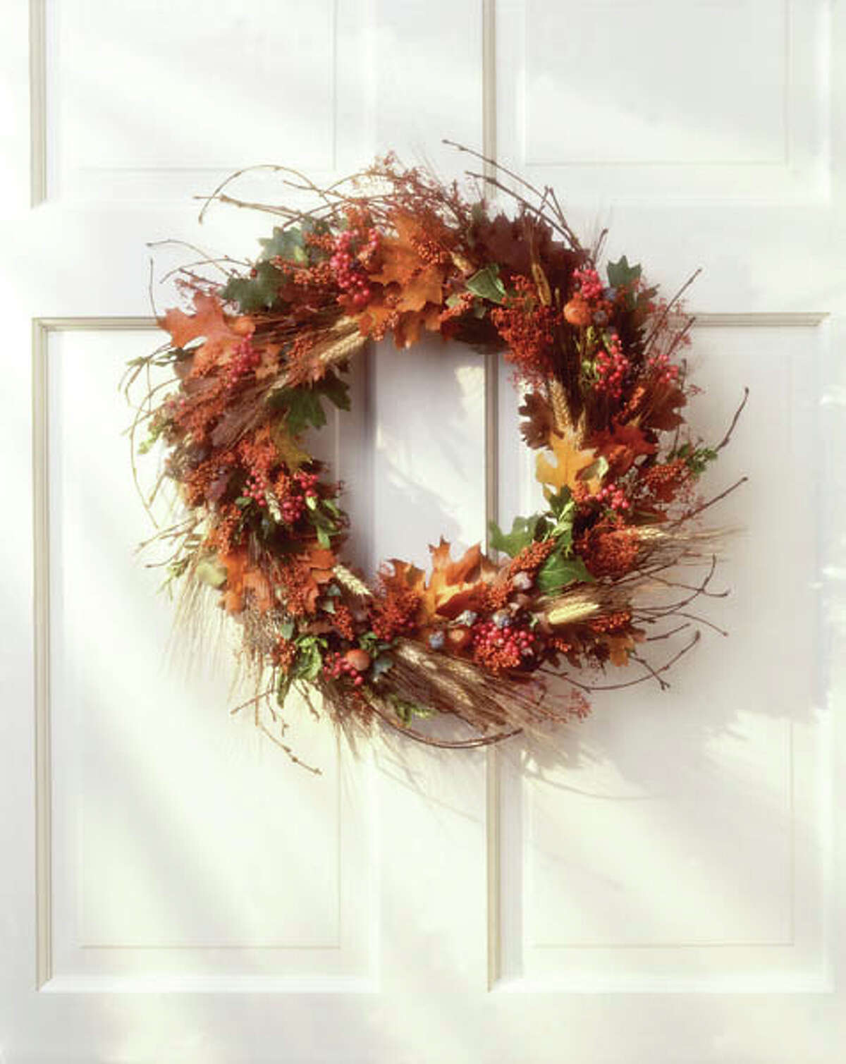 2. Create an autumn wreath Pinterest is a great place to find wreath inspiration and how-to tips.