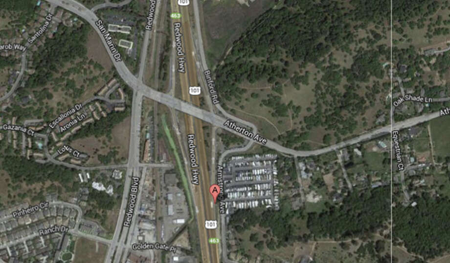 Atherton Avenue and Highway 101, Novato, CA Photo: Google Maps