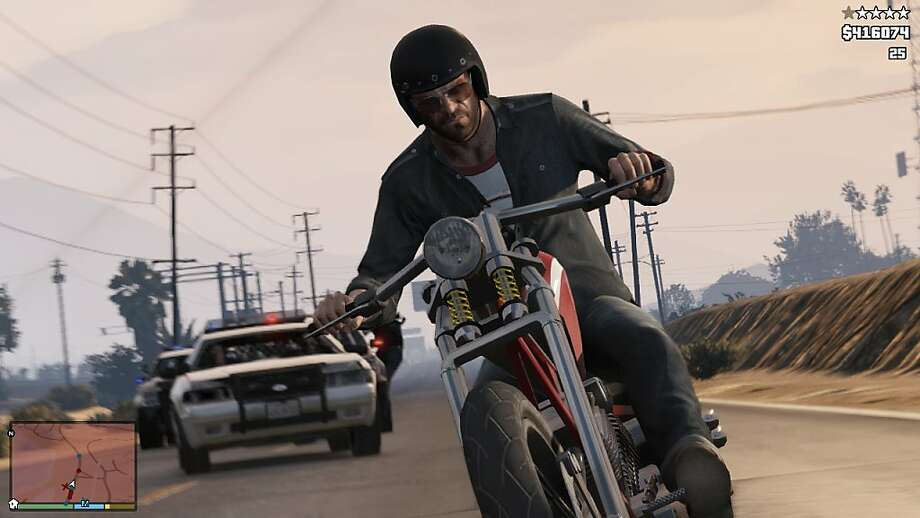 "In ""GTA V,"" you get your choice of three characters, and you don't get stuck on an impossible mission. Photo: Associated Press"