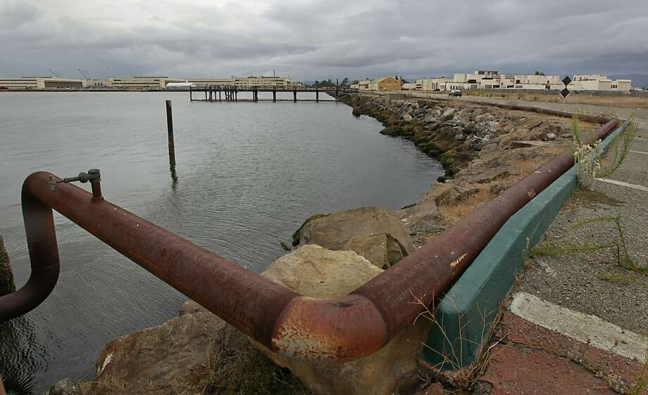 Alameda Point will be underwater by the end of the century, according to a report released by the city. Photo: Michael Macor, The Chronicle