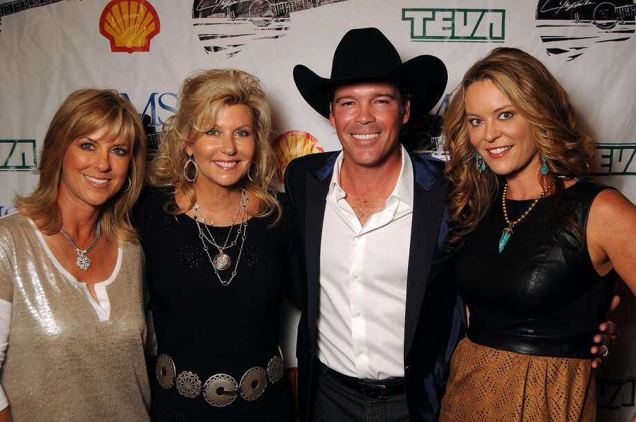 From left: Debbie Clemens, Susan Plank, Clay Walker and Megan Sutton-Reed Photo: Dave Rossman, For The Houston Chronicle