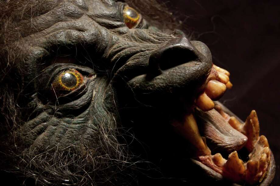 """A Nazi werewolf mask from """"An American Werewolf in London."""" Courtesy of the Collection of Bob Burns. Photo: Photo Courtesy Of EMP"""