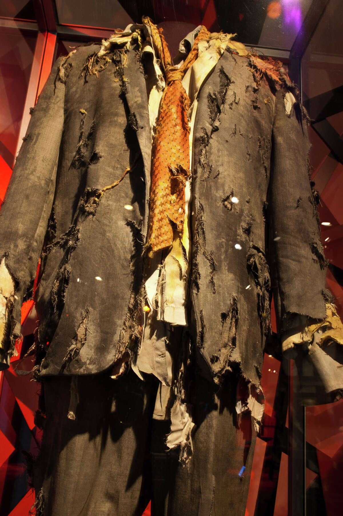 A zombie costume worn by Mick Garris in Michael Jackson's