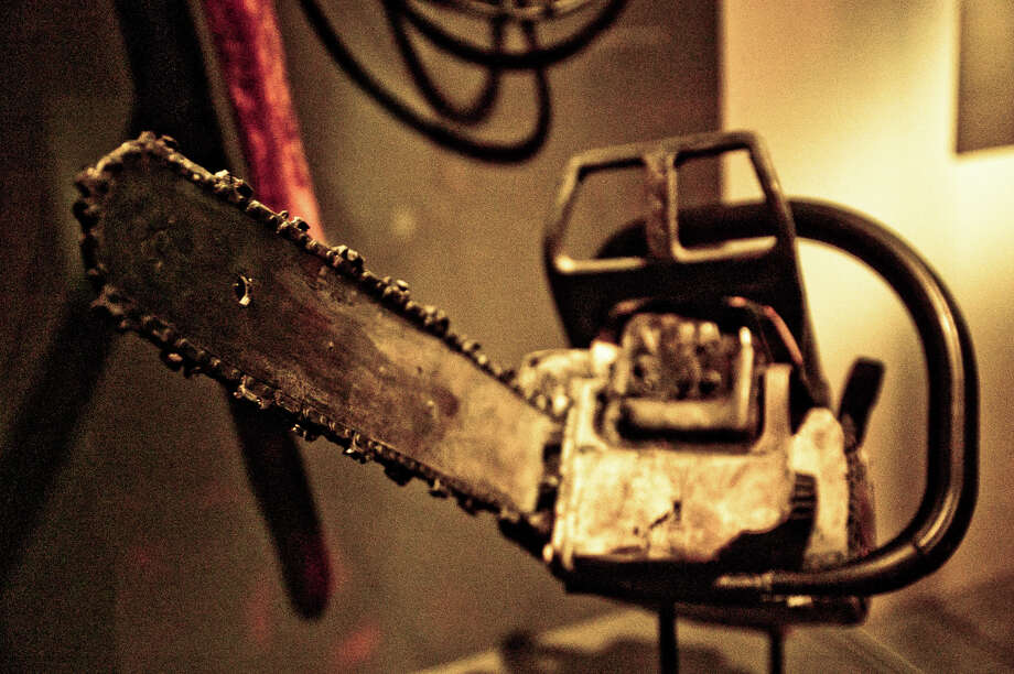 "A chainsaw used in ""Hostel."" Collection of Eli Roth Photo: Photo Courtesy Of EMP"
