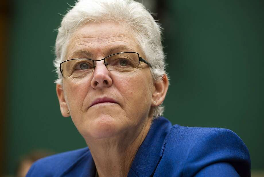 In this Sept. 18, 2013, photo, EPA administrator Gina McCarthy testifies before the House Subcommittee on Energy and Power on Capitol Hill, in Washington.  (AP Photo/Cliff Owen) Photo: Cliff Owen, Associated Press