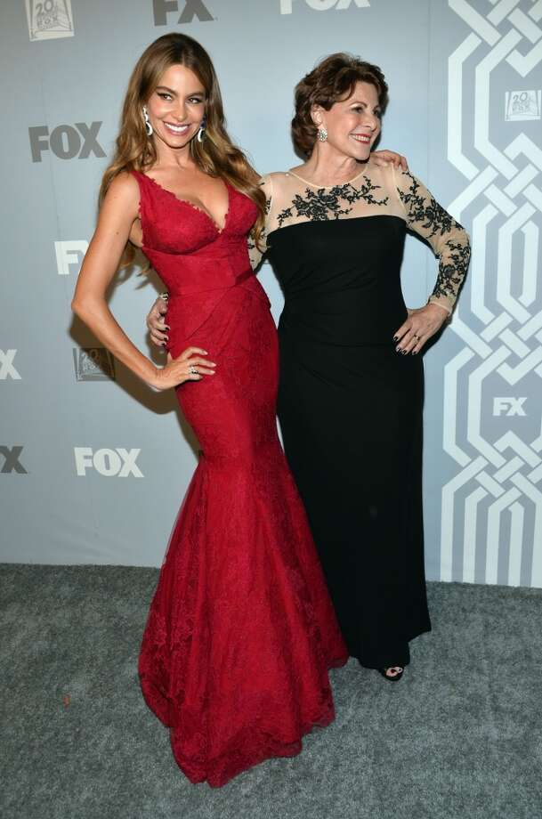 Actress Sofía Vergara (L) and guest attend the FOX Broadcasting Company, Twentieth Century FOX Television and FX Post Emmy Party at Soleto on September 22, 2013 in Los Angeles, California.  (Photo by Alberto E. Rodriguez/Getty Images) Photo: Alberto E. Rodriguez, Getty Images