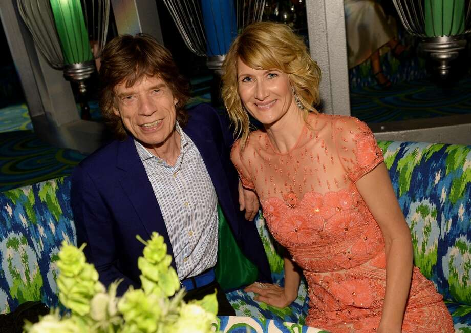 (L-R) Mick Jagger and actress Laura Dern attend HBO's Annual Primetime Emmy Awards Post Award Reception at The Plaza at the Pacific Design Center on September 22, 2013 in Los Angeles, California.  (Photo by Michael Buckner/Getty Images) Photo: Michael Buckner, Getty Images