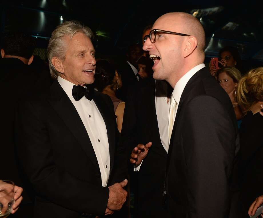 Actor Michael Douglas (L) and director Steven Soderbergh attend the HBO Emmy After Party at The Plaza at the Pacific Design Center on September 22, 2013 in Los Angeles, California.  (Photo by Michael Buckner/Getty Images) Photo: Michael Buckner, Getty Images
