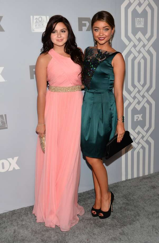 Actors Ariel Winter and Sarah Hyland attend the FOX Broadcasting Company, Twentieth Century FOX Television and FX Post Emmy Party at Soleto on September 22, 2013 in Los Angeles, California.  (Photo by Alberto E. Rodriguez/Getty Images) Photo: Alberto E. Rodriguez, Getty Images