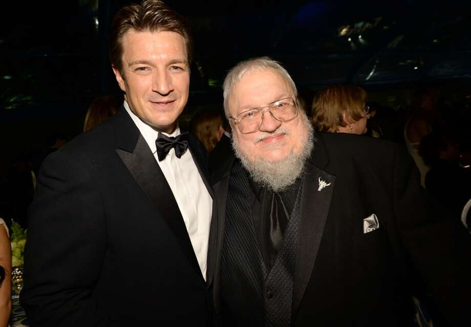 Actor Nathan Fillion and George R. R. Martin attend HBO's Annual Primetime Emmy Awards Post Award Reception at The Plaza at the Pacific Design Center on September 22, 2013 in Los Angeles, California.  (Photo by Michael Buckner/Getty Images) Photo: Michael Buckner, Getty Images