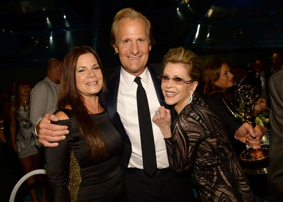 (L-R) Actors Marcia Gay Harden, Jeff Daniels and Jane Fonda attend HBO's Annual Primetime Emmy Awards Post Award Reception at The Plaza at the Pacific Design Center on September 22, 2013 in Los Angeles, California.  (Photo by Michael Buckner/Getty Images) Photo: Michael Buckner, Getty Images