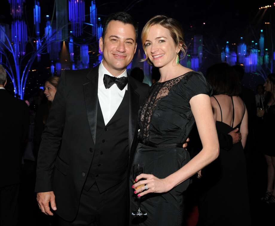 Jimmy Kimmel and Molly McNearney are seen at the Governor's Ball after the 65th Primetime Emmy Awards at Nokia Theatre on Sunday Sept. 22, 2013, in Los Angeles.  (Photo by Frank Micelotta/Invision for Academy of Television Arts & Sciences/AP Images) Photo: Frank Micelotta, Frank Micelotta/Invision/AP