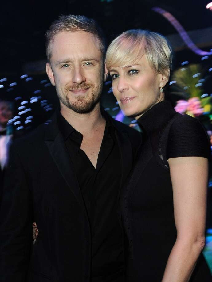 From left, John Benjamin Hickey and Robin Wright are seen at the Governors Ball after the 65th Primetime Emmy Awards at Nokia Theatre on Sunday Sept. 22, 2013, in Los Angeles.  (Photo by Jordan Strauss/Invision for Academy of Television Arts & Sciences/AP Images) Photo: Jordan Strauss, Jordan Strauss/Invision/AP