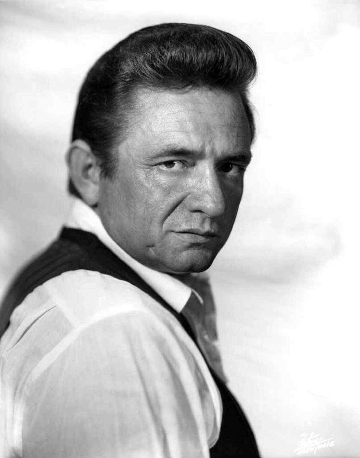 Johnny Cash - (U.S. Air Force) The country musician enlisted on July 7, 1950, he completed his basic training at Lackland Air Force Base and technical training at Brooks Air Force Base, San Antonio, TX.www.johnnycashonline.com