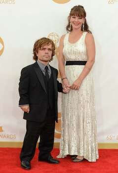 Peter Dinklage, left, and his wife Erica Schmidt on the red carpet. Photo: Jordan Strauss / Invision